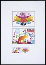 Ontwerp voor postzegels Nederland 2002 Europostzegel: Circus