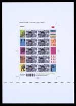 Werktekening voor postzegels Nederland 2003 Nelson Mandela