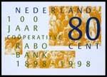 Ontwerp voor postzegels Nederland 1998 100 jaar Rabobank