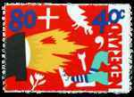 Postzegel Nederland 1993, Kinderpostzegel, Kinderen verslinden televisie