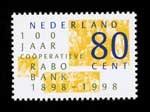 Postzegel Nederland 1998 100 jaar Rabobank