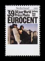 Postzegel Nederland 2005 50 jaar World Press Photo: Anthony Suau, 1987, USA