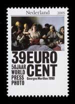 Postzegel Nederland 2005 50 jaar World Press Photo: Georges Merillon, 1990, Frankrijk