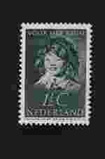 Postzegel Nederland 1937, kinderpostzegel, 1 ½ cent donkergrijs