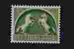 Postzegel Nederland 1943, Germaanse symbolen, Twee steigerende schimmels