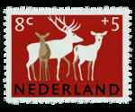 Postzegel Nederland 1964, Zomerpostzegel, Herten