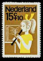 Postzegel Nederland 1964, Kinderpostzegel, Fluitspelen