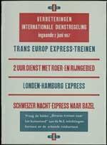 Verbeteringen internationale dienstregeling ingaande ... 1957, Trans Europ express-treinen