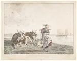Landschap met koeien en een melkster