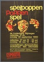 Affiche voor het festival Spelpoppen - Poppenspel (Nijmegen, 1980), met een afbeelding van een figuur uit de voorstellingen van Figurentheater Triangel