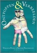 Affiche voor het festival Ontpoppen & Verbeelden van 14 t/m 23 oktober 1988 in Utrecht