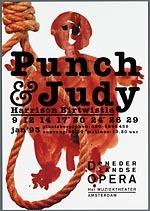Reclameprent voor de opera Punch & Judy van De Nederlandse Opera