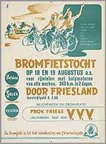 Bromfietstocht door Friesland