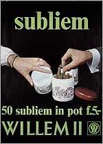 Subliem 50 Subliem in een pot F.5.- .Willem II