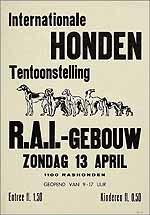 Internationale hondententoonstelling. RAI-gebouw. Zondag 13 april.