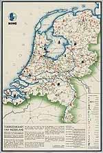 Toeristenkaart van Nederland