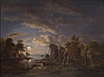 River and mill in the moonlight (1850)