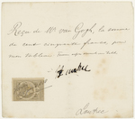 Receipt of Henri de Toulouse-Lautrec to Theo van Gogh for 'Poudre de Riz'