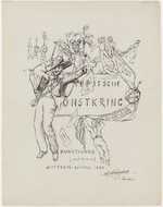 Utrechtsche Kunstkring (Utrecht Art Society): announcement of an art gathering on the 24th April 1886