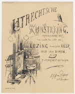 Utrechtsche Kunstkring (Utrecht Art Society): invitation for a lecture by Mr. Huf van Buren