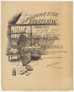 Utrechtsche Kunstkring (Utrecht Art Society): announcement of a photo exhibition