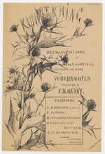 Utrechtsche Kunstkring: (Utrecht Art Society): programme for a gathering on the 8th of March 1889