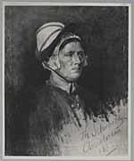 Portret van een vrouw met een muts