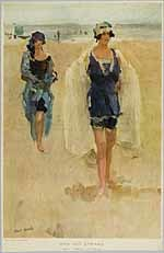 Twee dames aan het strand