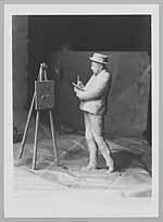 Portret van de schilder/etster Marius Bauer (1867-1932)