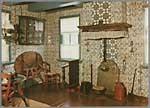 """Interieur stijlkamer uit de oudheidkamer van de stichting """"De Oude Pôlle"""" te Hollum-Ameland - Oosterlaan"""