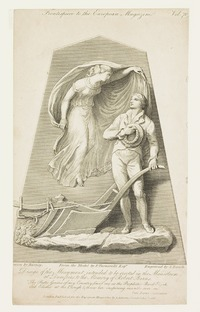 Design of the Monument intended to be erected in the Mausoleum at Dumfries to the Memory of Robert Burns