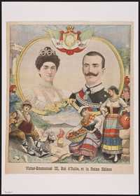 Victor-Emmanuel III, Roi d'Italie, et la Reine Hélène