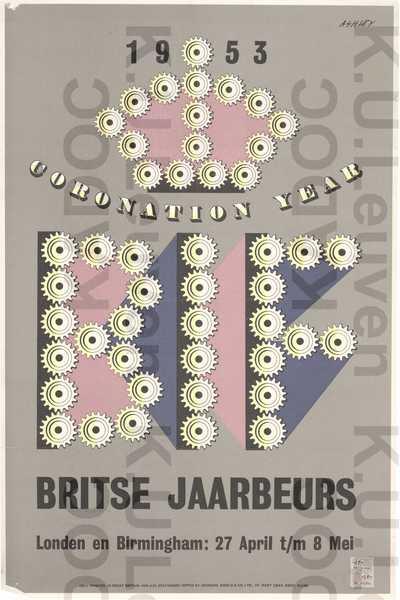Britse Jaarbeurs, Londen en Birmingham, 27 april-28 mei 1953 : aankondiging 'Coronation Year'