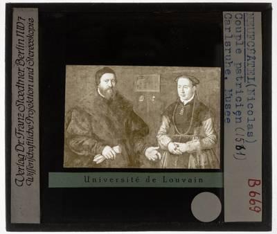 Nicolas Neufchatel. Portret van Balthasar Dörrer en zijn tweede vrouw Magdalena Bayerin