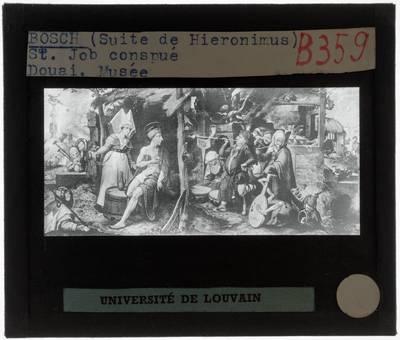 Jan Mandijn. Hieronymus Bosch (navolger). De beproeving van Job