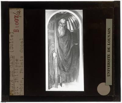 Joos van Wassenhove (atelier). Giovanni Santi (omgeving). Apostel Filippus