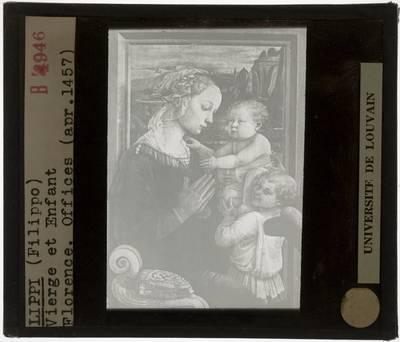 Filippo Lippi. Madonna met kind en 2 engelen