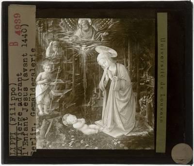 Filippo Lippi. Aanbidding van het kind