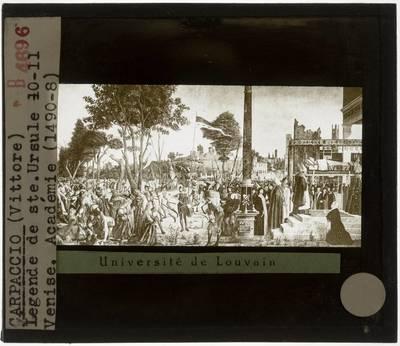 Vittore Carpaccio. Legende van de Heilige Ursula :Het martelaarschap en de begrafenis van de Heilige Ursula
