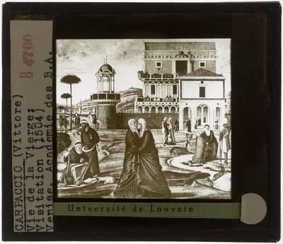 Vittore Carpaccio. Legende van Maria :Visitatie