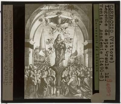Vittore Carpaccio. Legende van de Heilige Ursula :De glorie van de Heilige Ursula