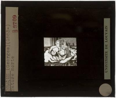Georges Braque. Stilleven met peren en fles