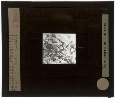 Wassily Kandinsky. Rood met zwart
