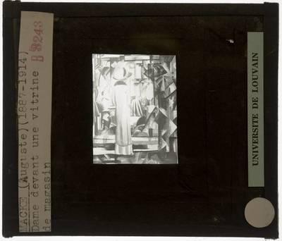 August Macke. Vrouw voor een vitrine