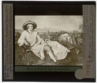 Johann Heinrich Wilhelm. Goethe in een Romeins landschap