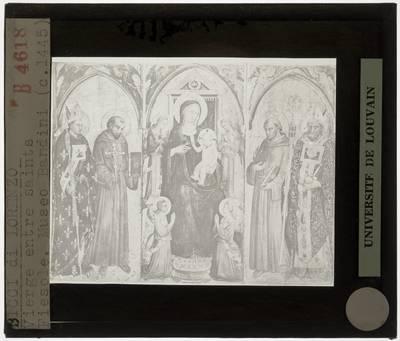 Lorenzo di Bicci. Madonna met Kind met Heiligen en engelen