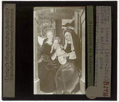 Hans Fries. Maagd Maria met Kind en Sint Anna