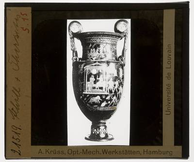 Oud-Grieks aardewerk. Varrese Painter (?). Amfora :Dood van Thersites