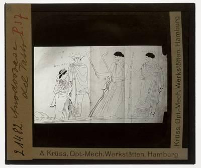 Oud-Grieks aardewerk. Persephone Painter (toegeschreven). Vaas :Terugkeer van Persephone uit de onderwereld