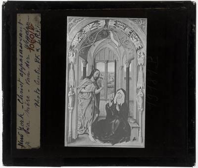 Juan de Flandes (onzeker). Michel Sittow (onzeker). Rogier van der Weyden (kopie). Christus verschijnt aan zijn moeder